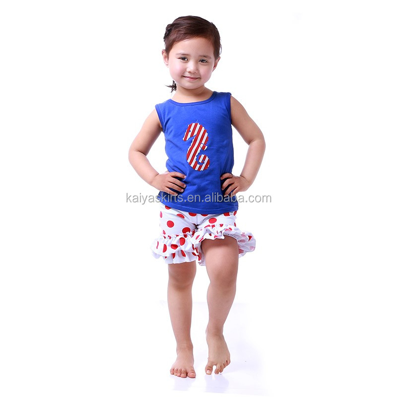 summer teen girl sleeveless clothes and red spot pants baby girls chevron clothing sets with ruffle