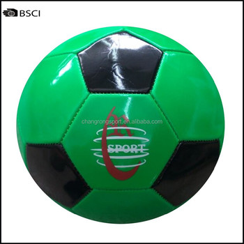 Black And Green Classic Style Chang Rong Logo Stock Soccer Ball