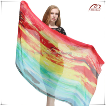 Digital printing novel design 100% silk 12mm silk chiffon fabric