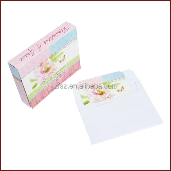 paper box for postcard Christmas card envelope paper package