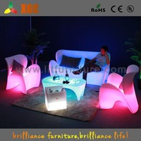 popular illuminous led modern outdoor leather sectional sofa
