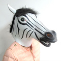 Custom Adult Party Zebra head Natural Latex Masks