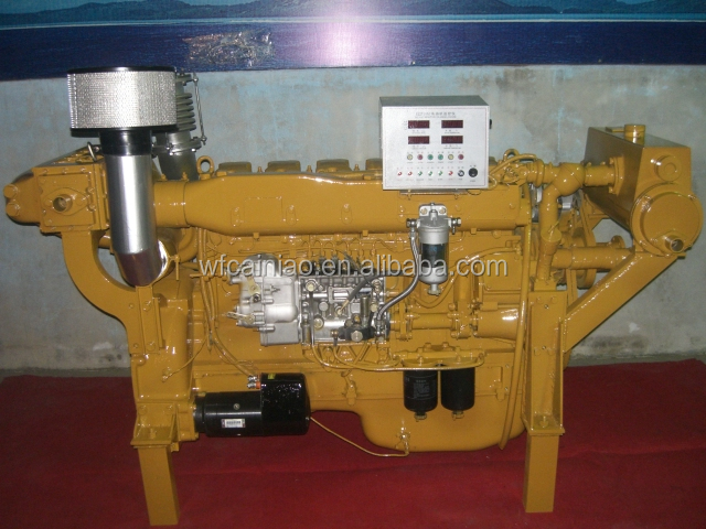 6126ZLC6 225kw China marine engine gearbox outboard engine