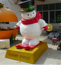 190cm christmas snowman decoration large life size fiber glass snowman for shopping mall