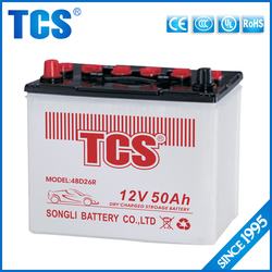 high performance Dry charged 48D26R automotive battery for Japanese Vehicles