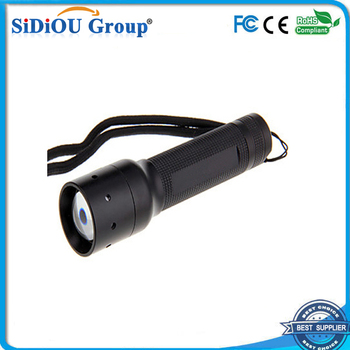 mini aluminum led bailong flashlight zoom