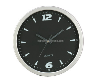 classical home decor black dial wall clock