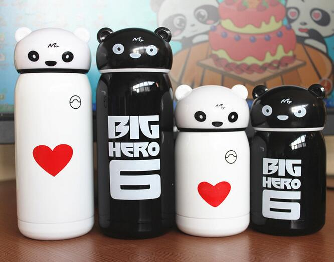 Top quality kids lovely hello kitty cat eco-friendly double wall Insulated cup thermos flask 304 stainless steel vacuum mugs