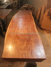 Beli wood slab table/solid wood dining table/wooden furniture