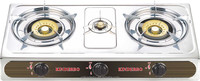 three burners domestic cooking range table top cooking range