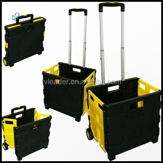 Multi Purpose Heavy Duty Folding cart Trolley Wheeled Shopping Storage Crate Box