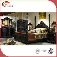 Classic design wooden bed WA133