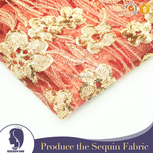 red and gold embroidery robe sequin for dress