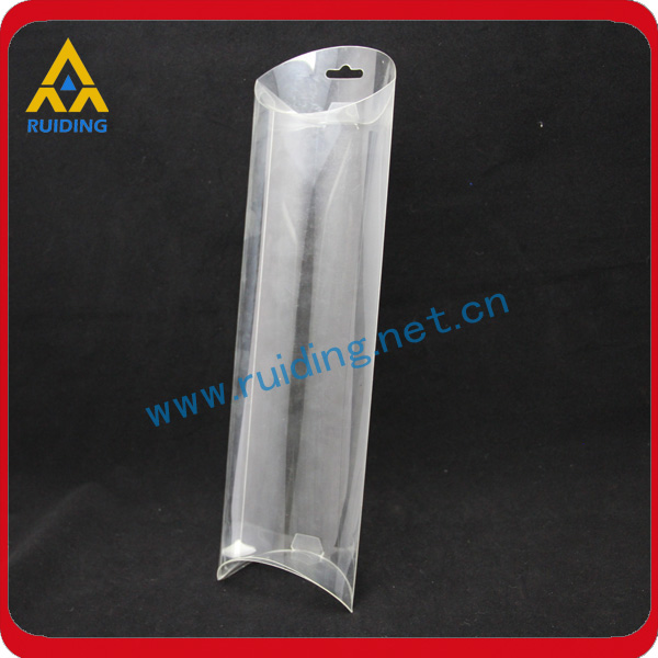 Easy folding offset printed clear plastic tube for wine