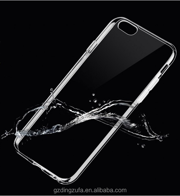 Transparent phone case mobile phone case for iphone 6 with TPU material