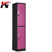 2018 High quality 2 tier clothes steel hostel locker cabinet