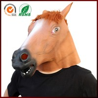 Latex Rubber Creepy Horse Head Mask Halloween Costume Party Gift Prop Novelty Masks