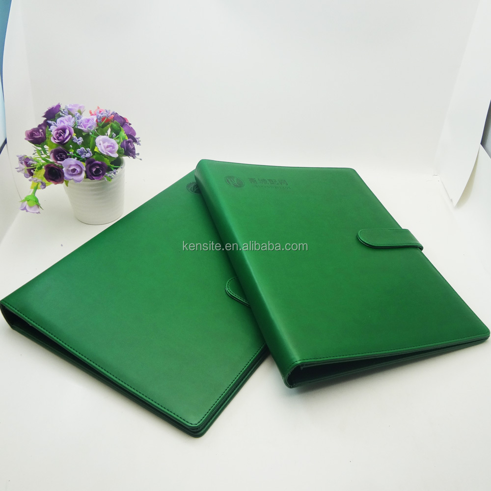 faux leather A4 office stationery file folder