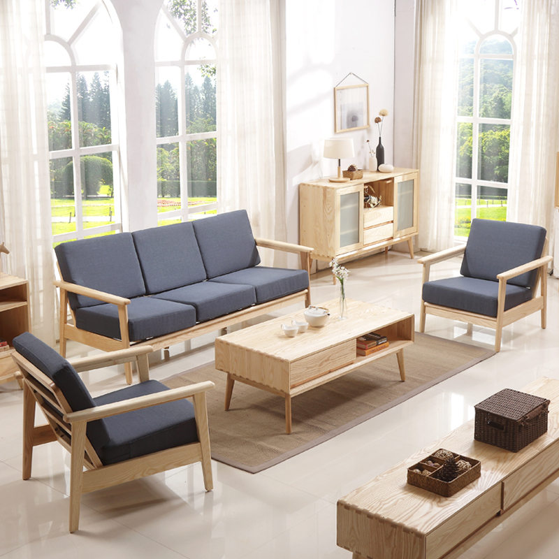 Pictures of Simple Design Wooden Sofa Designs
