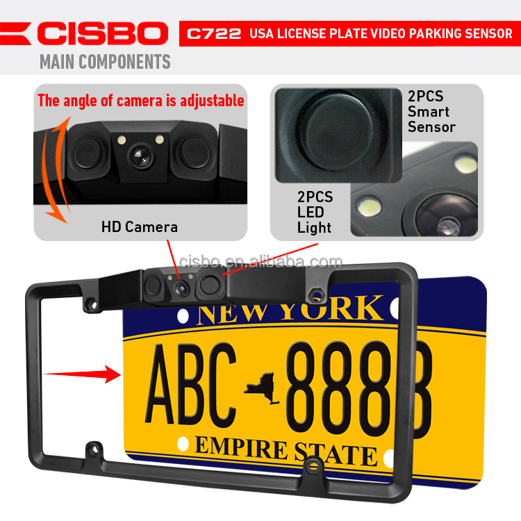 Shenzhen CISBO American License Plate Car Rear View camera SB-C22