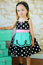 summer party wholesale dress polka dot frock design for girls