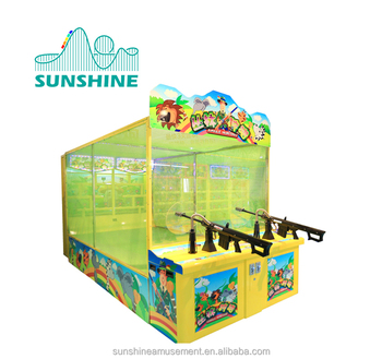 indoor kids amusement shooting games machine for sale
