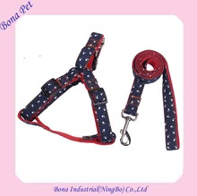 New Design Jean Printing Dog Cat Harness and Leashes
