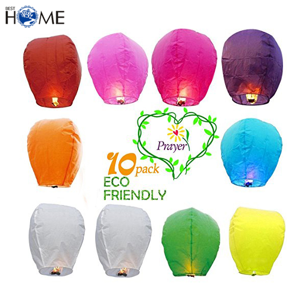Cheap Outdoor Festival 100% Biodegradable Flying Chinese Paper Sky Lantern
