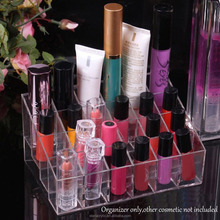 Clear Acrylic Lipstick Display Holder Make up Box Organiser Cosmetic Display Storage Jewellery Case Box