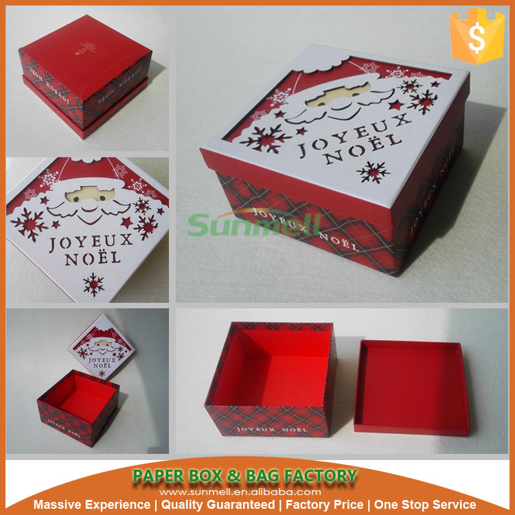customized wire decorative christmas box with lids
