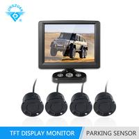 3.5 inch HD Disktop TFT Display ultrasonic Back-up Visual Parking Sensor with car rearview camera