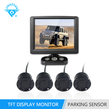 3.5 inch HD Disktop TFT Display ultrasonic Back-up Visual Parking Sensor with car rearview camera