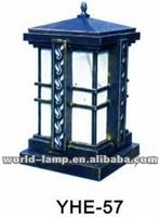 outdoor fence post lamp garden light