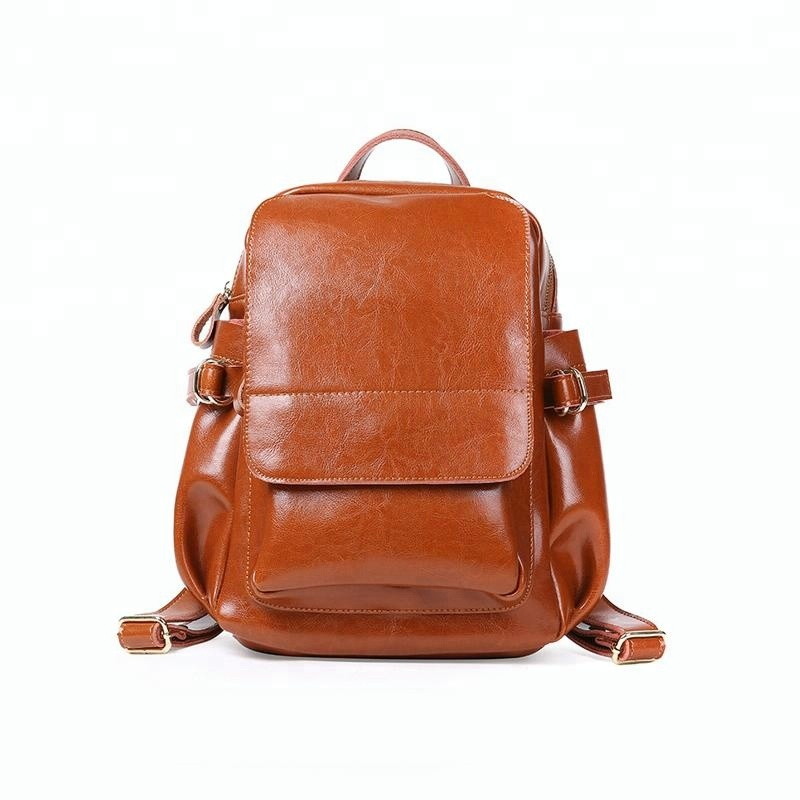Genuine Leather <strong>Backpack</strong> Fashion Bag Retro <strong>Backpack</strong> For Women