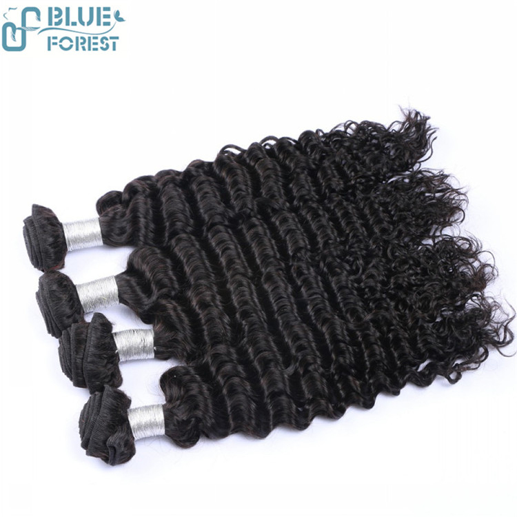 Wholesale Brazilian Deep Wave Hair Very Cheap Remy Hair Bundles Natural Color can Hair Dye 8-30inch