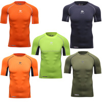 Brand Fashion 2016 New Compression wear t shirt for muscle men gym jersey clothing