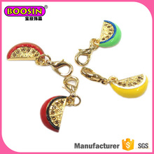 China professional manufacturer supply charm fruit shape minimalist jewelry charm cheap, wholesale jewelry