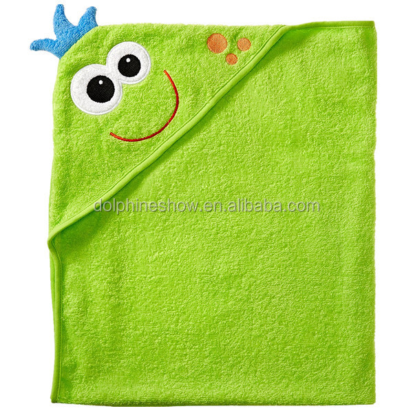 Fashion cheap cartoon animal design bath towel sets custom cute soft 100% cotton hooded baby towel