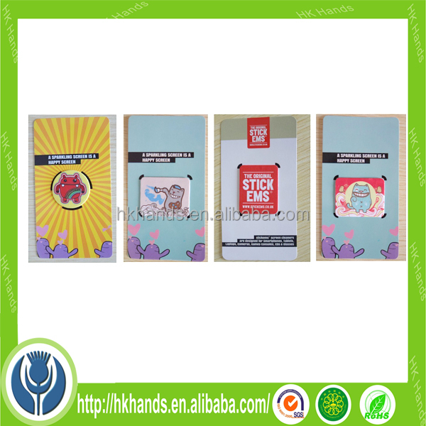 promotional gift screen cleaner sticker for mobile phone