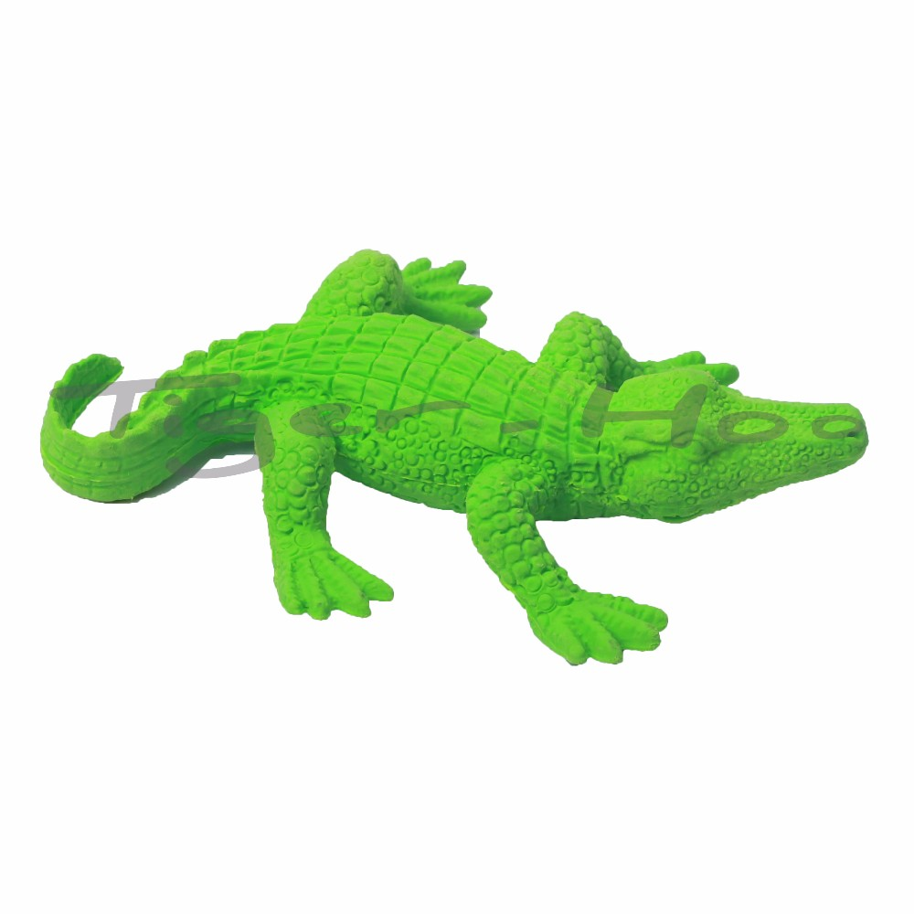 Environmental TPR Novelty 3D Crocodile Shaped Dust Free Office Eraser