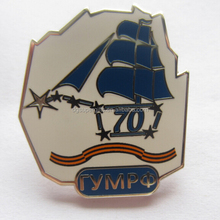 best quality anniversary souvenir,70years metal lapel pins customized souvenir gift