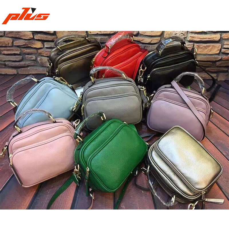 Golden Color Genuine Leather Shoulder Bag Wholesale Price Handbag China