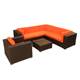 New Style Aluminum Outdoor Wicker Garden Furniture Rattan Sofa Set
