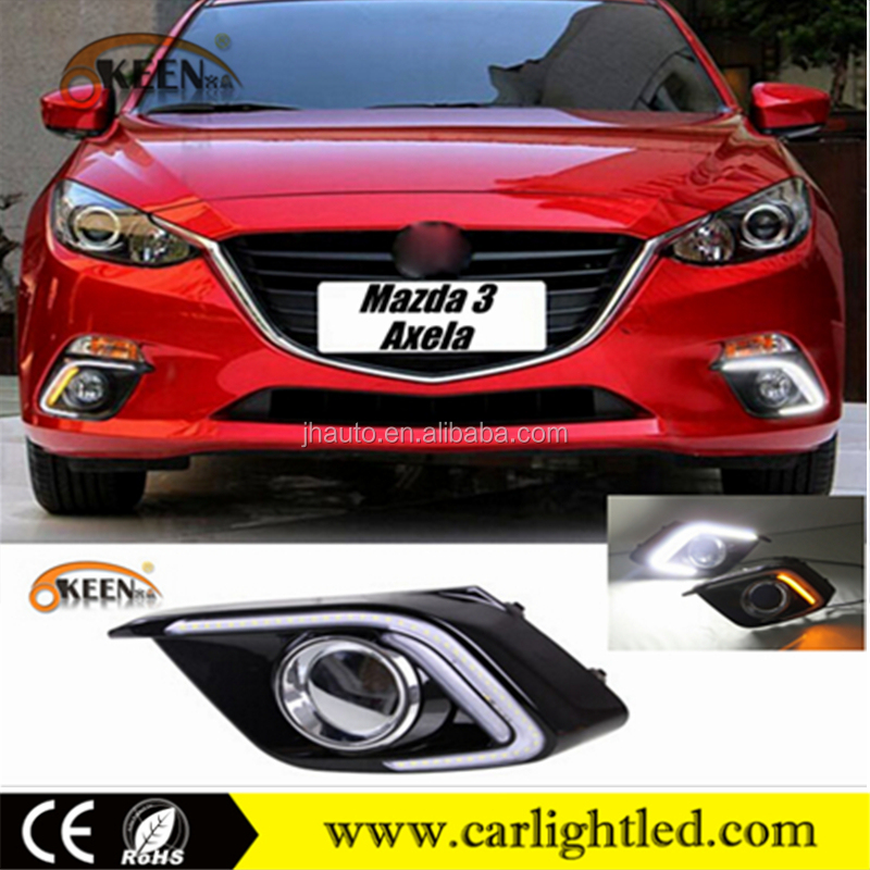KEEN Good Quality for 2014 Mazda 3 Axela DRL car led daylight daytime running light with drl turn light