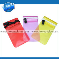 PVC waterproof swimming bag,cell phone bag