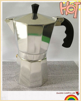 2014yongkang professional Aluminum Espresson coffee maker/moka pot/coffee stove/coffee maker factory