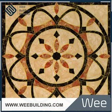 OEM customized design size free flower pattern decoration floor using tile