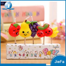 Cute Fruit Birthday Party Candle Cake Set Decoration