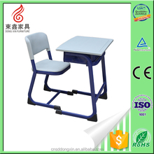 2015 Latest design single seat school desk and chair