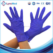 Nitrile glove dark purple blue